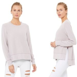 ALO Glimpse Long Sleeve Sweater - Dusty Rose/Mauve